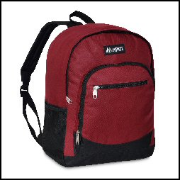 Casual Backpack w/ Side Mesh Pocket